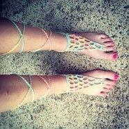 Barefoot Sandals: Free Crochet Pattern