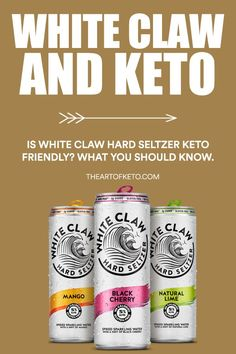 Is white claw hard seltzer considered to be keto friendly? What you need to know about alcohol and fat loss. Keto Carbs, Keto Fat, Is Keto Safe, White Claw Hard Seltzer, Slushie Recipe, How Much Sugar, Keto Cocktails, Keto Calculator, Keto Drink