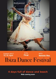 Mafalda is an increíble Bollywood teacher, she will teach at our festival. Come to join us at the 1st. Intimate Ibiza Bellydance Festival