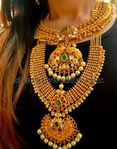 Jewellery Designs: Contemporary Heavy Bridal Gold Jewelry