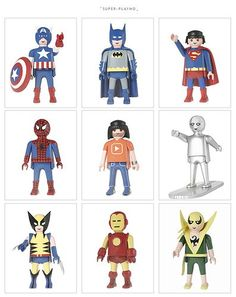super playmo figures [link to series of customized playmobil toys]