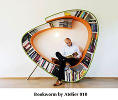 Bookworm by Atelier 010  from Design Porteur  I WANT THIS!!!!!!
