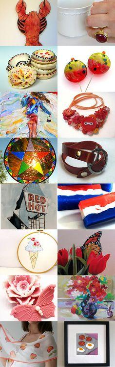 Summer Fun Reds by Jennifer Love on Etsy--Pinned with TreasuryPin.com  https://www.etsy.com/treasury/MjA3NzI5Mjd8MjcyMzg0MDA4MQ/summer-fun-reds
