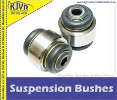 We specialize in Suspension Bushes at our Bronkhorstspruit and Delmas Branches. When to replace bushes Most drivers think that mechanics are the only ones to identify faults in a car. However, sometimes we need to identify these problems.read more.