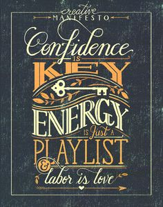 'Creative Manifesto' by Livy Long via Behance