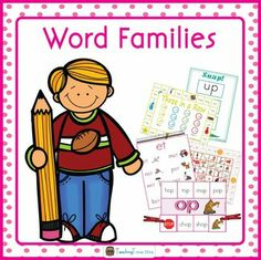 269 pages of word family work.  The following 19 word families are covered: ad, ag, am, an, ap, at, ed, en, et, ig, in, ip, it, og, op, ot, ub, ug, and un. Introduce one each week.
