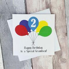 Handmade 2nd birthday card Personalised birthday card with | Etsy Happy Birthday Godson, Birthday Card With Name, Sister Birthday Quotes, Sons Birthday, Happy Birthday Images, Happy Birthday Cards, Special Birthday, Birthday Greetings, Birthday Wishes