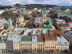 view from the lviv town hall
