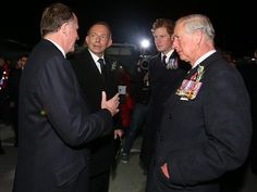 Paying their respects … Australian Prime Minister Tony Abbott and New Zealand Prime Minister John Key greet Prince Charles and Prince Harry before the 100th-anniversary Anzac Day dawn service at Gallipoli on 25 April 2015 Picture: Gary Ramage Source: News Corp Australia