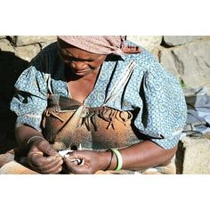 For the FIRST time EVER 'Me MaTumo is able to feed her family by selling her hand-made crafts to Reclaimed as we work to provide care to orphans living in the mountains of Lesotho!