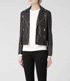 Almere leather moto jacket