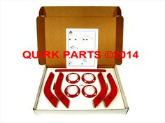 11-15 Jeep Wrangler Unlimited 4 Door FLAME RED INTERIOR TRIM KIT OEM NEW MOPAR #MOPAR