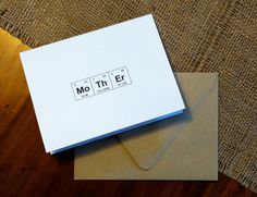 Mother's Day Card Periodic Table of the Elements Chemistry Card by theBirdandtheBeard, $4.00