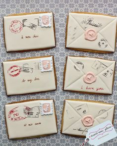 Cookie Envelopes #baking #cookies #icing #dessert #snack