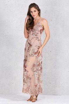 Vestido Longo com Paetês - Compre Online