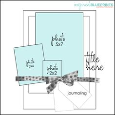 3 photo 1 page scrapbook layout Inspired Blueprints. Scrapbook Layout Sketches, Scrapbook Templates, Scrapbook Designs, Card Sketches, Scrapbook Paper Crafts, Scrapbooking Layouts, Wedding Scrapbook, Baby Scrapbook, Scrapbook Cards
