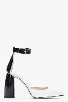 MARC JACOBS White and black New Air Shade heels
