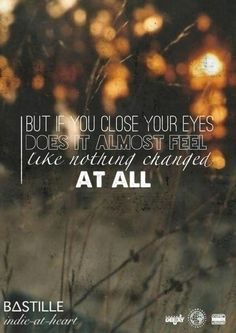 bastille song close your eyes