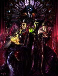 DISNEY Villains - The Throne Contenders by ~DarrilAsylum on deviantART