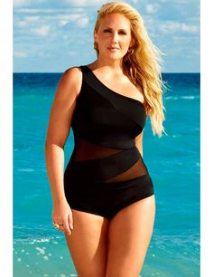 I am not skinny or fit but i would love to gain weight like this! One piece swim suit for curvy girls