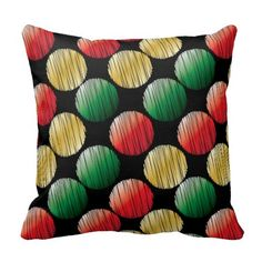 #Scribble #Polka #Dots #Pattern #Pillows #trendy #zazzlebesties #Zazzle