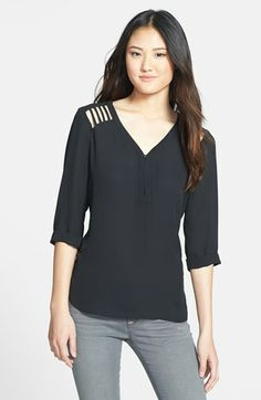Dex Lattice Cutout High/Low Blouse available at #Nordstrom