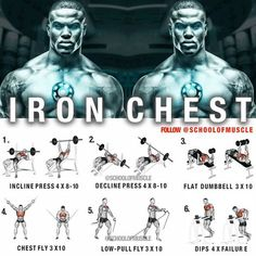 Combine your routine with the most powerful Bulking Stack for amazing results and chest growth, how to grow chest, chest workout Gym Workout Chart, Gym Workout Tips, Weight Training Workouts, Gym Training, Fun Workouts, At Home Workouts, Bike Workouts, Gym Tips, Swimming Workouts