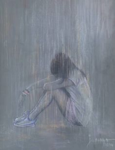 "Saatchi Art Artist jovica kostic; Drawing, ""SAD RAIN"" #art"