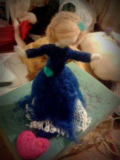 My Doll needle felt work in progress