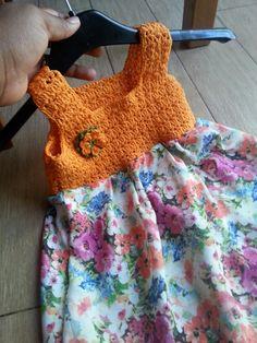 Petite robe fille crochet ♡