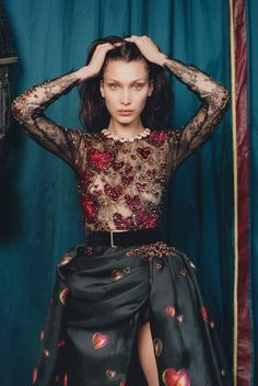 Bella Hadid by Venetia Scott for W October 2016. Fashion editor: Edward Enninful Hair stylist: Odile Gilbert Makeup artist: Stéphane Marais