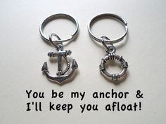 Small Life Saver & Anchor Keychain Set – JewelryEveryday