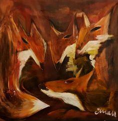 Mother Fox - Contemporary Art Painting - Florin Coman