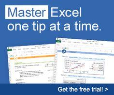 Master Excel - Spreadsheet Tips Workbook