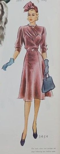 McCall 3454 | ca. 1939 Misses' Dress