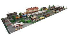 "pimpmybricks: ""The Train Station A.D. 2014 by Maciej Drwięga http://flic.kr/p/pGJL9B """