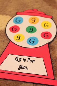 Ricca's Kindergarten: ABC's and…Embedded Picture Mnemonics! Alphabet Letter Crafts, Abc Crafts, Daycare Crafts, Classroom Crafts, Letter Tracing, Letter Sorting, Letter Recognition, Letter Art, Letter G Activities