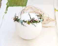 Shop for on Etsy, the place to express your creativity through the buying and selling of handmade and vintage goods. Woodland Theme Wedding, Boho Wedding, Wedding Crowns, Forest Wedding, Summer Wedding, Wedding Decor, Wedding Ideas, Hair Garland, Hair Wreaths