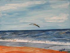 Bird over Beach by CarolynYM on DeviantArt