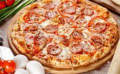 Télécharger fonds d'écran pizza, fast-food, des saucisses, pizza italienne