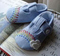 wool felt baby shoes