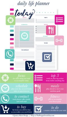 I& created four new daily planning pages with each layout targeted towards a different planning style! Printable Day Planner, Hourly Planner, Life Planner, Daily Planning, Planning Your Day, Meal Planning, Day Planners, Work On Yourself, Layout