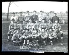 Group portrait of the University City Junior High School baseball team. Photograph taken by Isaac Sievers for Sievers Studio in 1931. Sievers Studio Collection, Missouri History Museum.