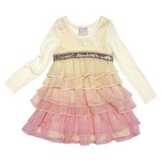 Infant Toddler Girls' Long Sleeve Ombre Empire Dress #easter