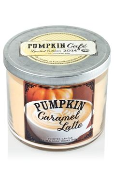 Pumpkin Caramel Latte 3-Wick Candle - Slatkin & Co. - Bath & Body Works