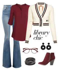 A fashion look from September 2017 featuring embellished cardigan, red v neck shirt and slim fit denim jeans. Browse and shop related looks. Casual Friday Work Outfits, Chan Luu, Charlotte Russe, Jay, Denim Jeans, Style Me, Fashion Looks, Dressing, Study