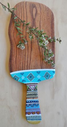 s use it to serve cheese,dips,antipastos, fruit,breakfast or even dinner, this beautiful white cedar timber board will present your favorite foods with a unique style and organic simplicity.| Entirely handcrafted + handpainted by Millie Fairhall| One of a kind | Strong.Durable.Versatile| Burni...