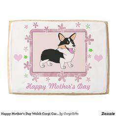 Happy Mother's Day Welsh Corgi Cartoon Jumbo Cookie