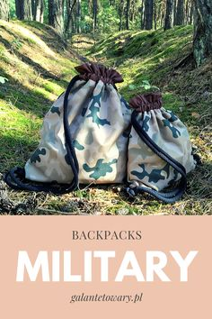 Military backpack set ideal for father and son. Father And Son, Drawstring Backpack, Sons, Military, Backpacks, My Son, Backpack, Boys, Children