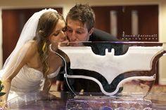 Batman wedding ice sculpture.